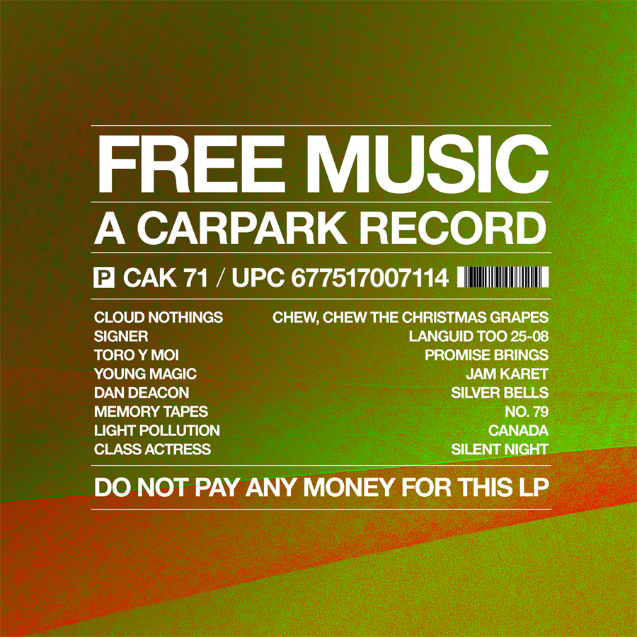 Free Music - A Carpark Record (cover)