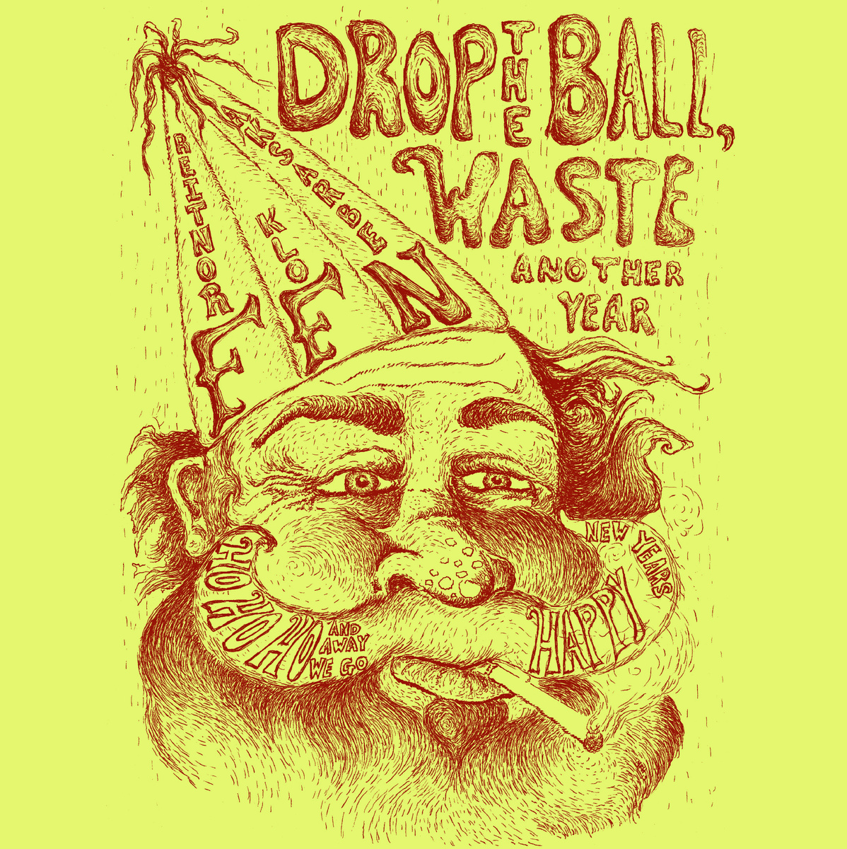 Frontier Folk Nebraska - Drop the Ball, Waste Another Year 7""